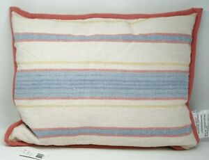 "Lauren Ralph Lauren Cayden Ticking-Stripe 15""x20"" 100% Linen Decorative Pillow"