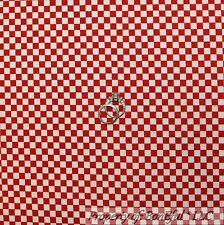 BonEful FABRIC FQ Flannel Cotton Quilt Red White STRIPE Ging*ham Check Boy Block