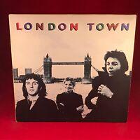 Wings London Town 1978 GB Vinyle LP + Affiche Paul Mccartney Excellent État