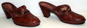 Clarks Artisan 77608 Brown Mule Slides Women's Size 10M EUC