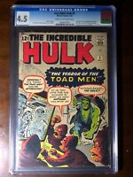 Incredible Hulk #2 (1962) - 1st Green Hulk!!! - CGC 4.5!! - Major Key!!!