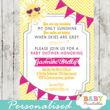 You Are My Sunshine Baby Shower Invitation for Girls - Printable Digital File