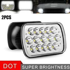 """Pair 7x6"""" CREE LED Headlights Sealed Hi-Lo Beam H6054 For Ford E-150 E-250 E-350"""