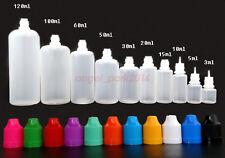 Wholesale 11-colors 3ml -120ml Plastic Squeezable Dropper Bottle Liquid Eye LDPE