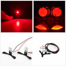 2 Pcs Red LED Demon Eye Projector Lens Headlights Retrofit Car Light Accessories