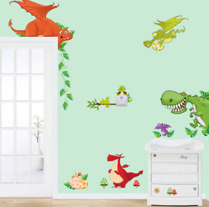 removable cute dinosaurs dragon baby wall sticker decal children/kids bedroom
