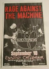 Rage Against The Machine RAGE 1997 Concert Original Show Poster w/ Wu Tang