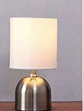 "GLANZHAUS Table Lamp Chrome/steel 120v 60watt Indoor Use White Shade 11"" X 5.9"""