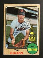 Tim Cullen Senators signed 1968 Topps baseball card #2019 Auto Autograph 2