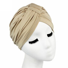 Women Indian  Turban Hat Head Wrap Stretchable Chemo Pleated Hijab Cap Fashion