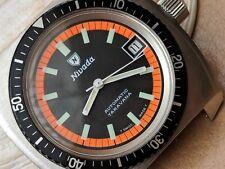 Vintage Nivada Taravana Diver Watch w/Pristine Dial & Bezel,All SS Case,ETA 2783