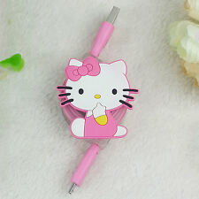 Cartoon  Micro USB LED Charger Retractable Cable Data Sync Cell Phone