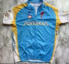 Astana Pro Team Moa Specialized cycling jersey XXXL Blue White Yellow