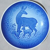BING & GRONDAHL 1975 Mother's Day Plate Deer and Fawn B&G Mothers Day