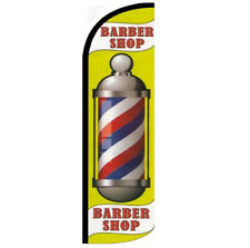 Barber Shop Windless Swooper Flag 3x115 Ft Tall Banner Sign Yq009