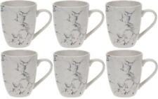 Set of 6 Marble Effect Large Mugs Coffee Tea Mugs 350ml Soup Mugs Porcelain