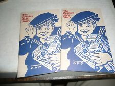 Cracker Jack story book , 1990's 16 pages , x2 pc lot candy food advertising