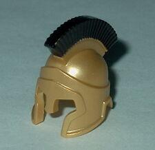 HEADGEAR Lego Roman-Spartan Helmet Metallic Gold (Black Plume custom) NEW Black