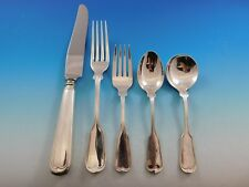 Fiddle Thread by Frank Smith Sterling Silver Flatware Set Dinner Service 40 Pcs