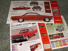 1965 MERCURY COMET CYCLONE SPEC INFO POSTER BROCHURE AD 65