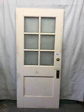 Wood Interior Door 8 Lite School Salvaged Architectural Vintage Privacy Glass 80