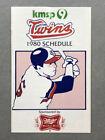 1980 MINNESOTA TWINS Baseball Pocket Schedule MILLER HIGH LIFE BEER Advertising