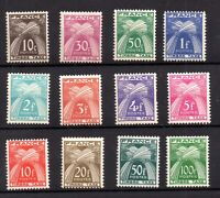 France 1949-53 Postage Due unmounted mint set D985-996 WS17920