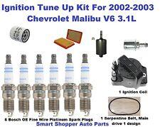 Ignition Coil, Spark Plug, Oil Air Fuel Filter For 2002-2003 Chevrolet Malibu V6