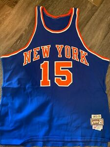 100% Authentic Earl Monroe Mitchell Ness 1972-73 Knicks Jersey Size 52 Mens