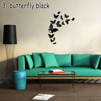 3D Removable Acrylic Decal Art Mural Mirror Wall Stickers DIY Home Room Decor AU