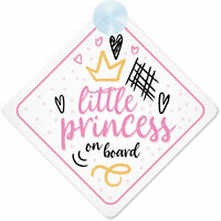 Princess On Board (024) Non Personalised Car Sign Baby Girl/Child Gift/Present