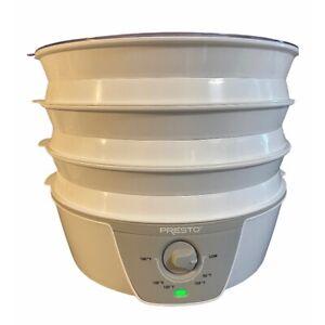Presto Dehydro Electric Food Dehydrator 6 Nesting Trays Model 0630203 750w