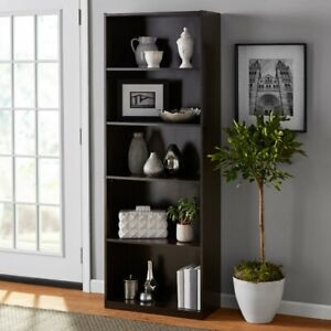 "Mainstays 71"" 5 Shelf Bookcase - Black"