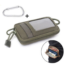 Outdoor Tactical Wallet Purse Molle Card Pocket Key Hanging Coin Bag Army Green