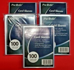 500 Pro-Safe Standard Size Penny Basketball Card Sleeves 5 Packs of 100 Sleeves