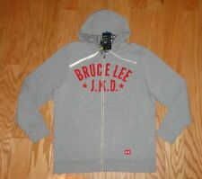Under Armour Bruce Lee JKD Hoodie NWT Size XL Gray Roots Of Fight UA Men's