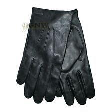 HUGO BOSS MEN HUGO LOGO GLOVES HAINZ-2 BLACK/BROWN ALL SIZES Was £75