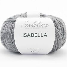 Sublime Isabella by Sirdar Wool/cotton SH 0648 Pea 4mm 50 GMS