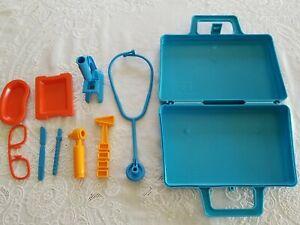 Vintage Hasbro Doctor & Nurse Medical  Kit Playset  Clean!!