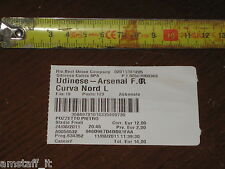 * UDINESE ARSENAL CHAMPIONS LEAGUE 2011/12=BIGLIETTO=TICKET=
