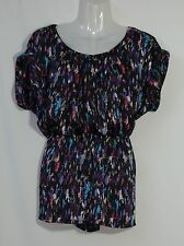 HOT OPTIONS MULTI-COLOURED SATIN TOP - SIZE 10