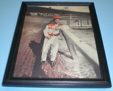 1952 JOCKEY WILLIE SHOEMAKER FRAMED COLOR PRINT
