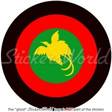 """PAPUA NEW GUINEA AirForce Aircraft Roundel Papuan Vinyl Sticker Decal 100mm(4"""")"""