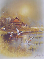 ANDRES ORPINAS  Old Barn Pond Ducks 11 x 14
