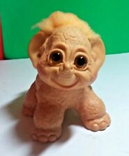 COLLECTIBLE VINTAGE DAM ORIGINAL TROLL ELEPHANT 1964 MOHAIR AMBER EYES 6""