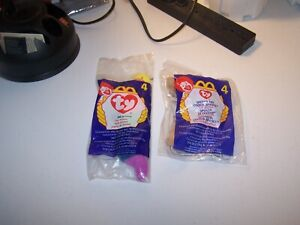 Lot of 2-McDonald's Ty Beanie Babies Inch & Spunky The Cocker Spaniel