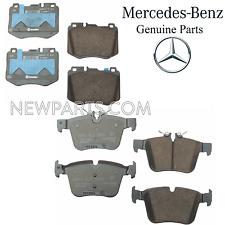 Sensor Premium Ceramic NEW For Mercedes W205 C300 C400 15-16 Rear Brake Pad Set