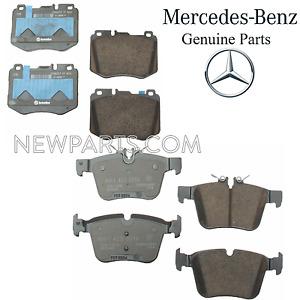 For Mercedes W205 C205 A205 C300 C350e C400 Front & Rear Brake Pad Sets Genuine