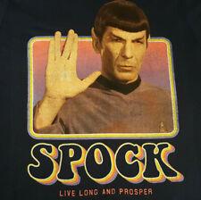 Star Trek SPOCK T Shirt Medium EUC Leonard Nimoy Vulcan TOS Blue INV2175