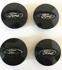 4x Ford Glossy Black Wheel Hub Center Caps #BB53-1A096-RA Edge Explorer Fusion